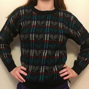 Vintage Xs acrylic sweater